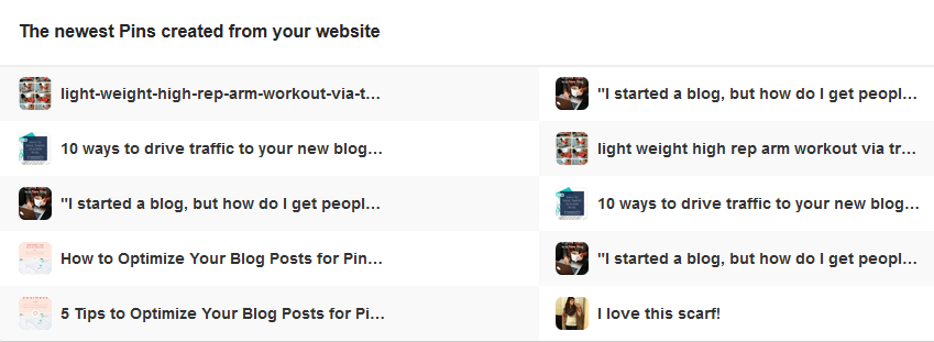 How to Find the Newest Pins from Your Website with Pinterest Analytics