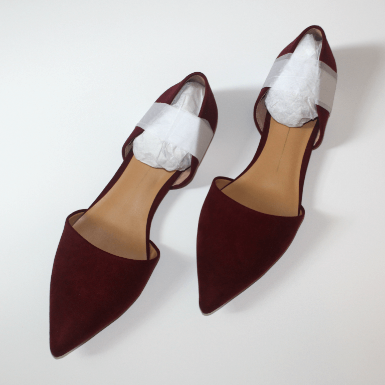 Stitch Fix DV Abbey D'Orsay Flats Maroon Pointed Toe