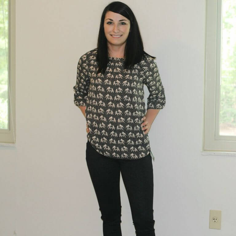 Ellie Printed Elephant 3/4 Sleeve Blouse From Stitch Fix