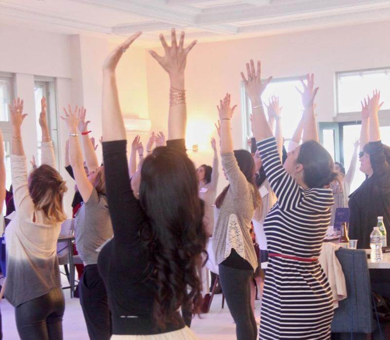 yoga session during a Propelle networking event in Pittsburgh