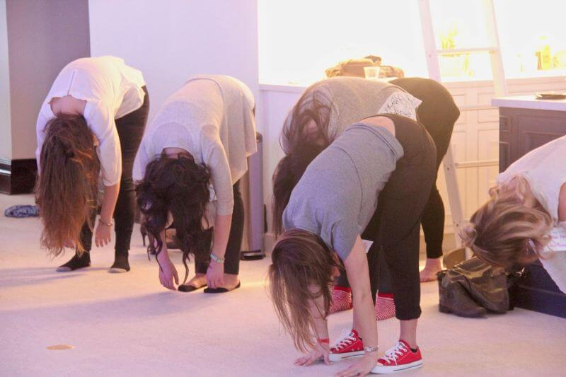 Yoga break during a Propelle networking event