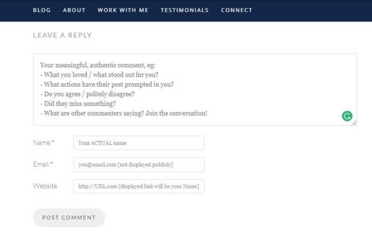 blog comment backlinks