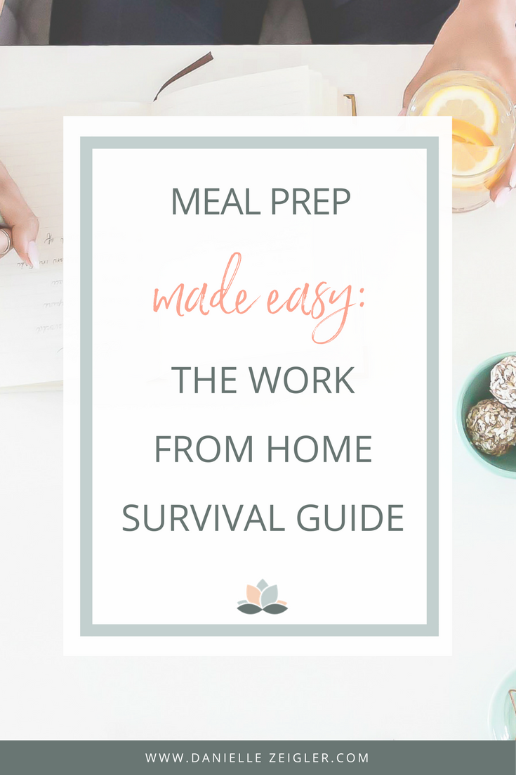 how to do easy meal prep when you work from home
