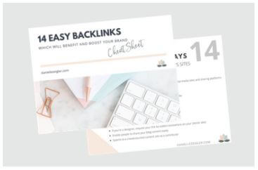 14 Easy Backlinks SEO freebie lead magnet example