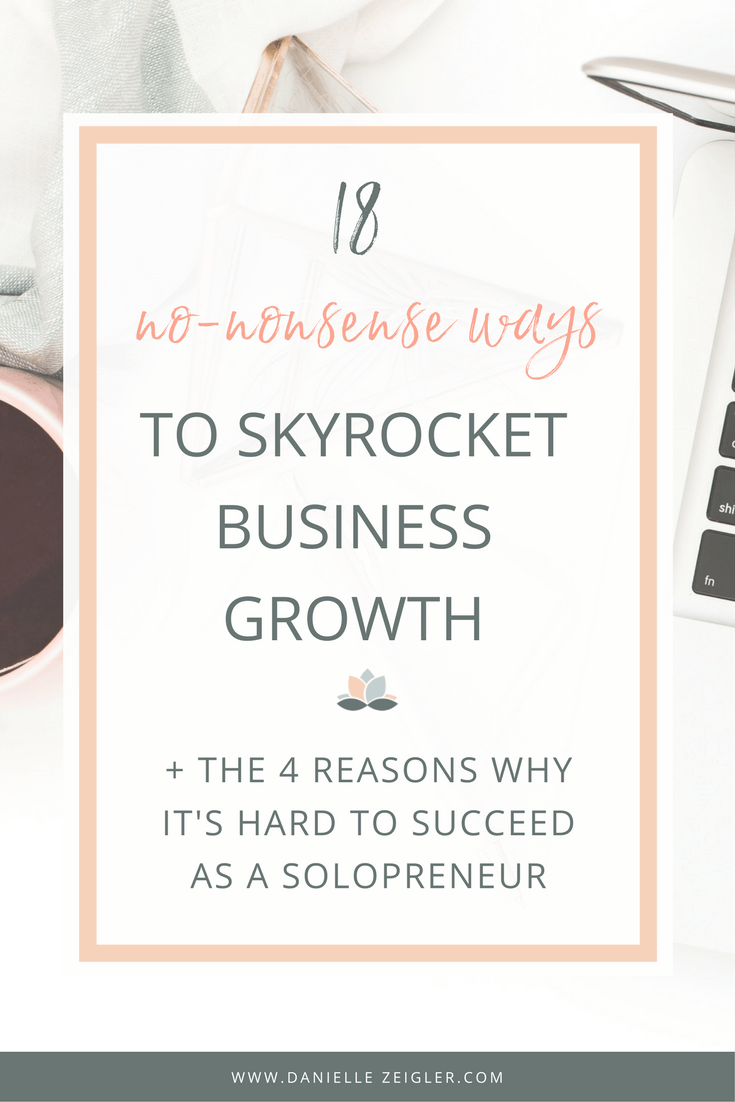 18 no-nonsense ways to skyrocket business growth + 4 reasons why it's hard to succeed as a solopreneur