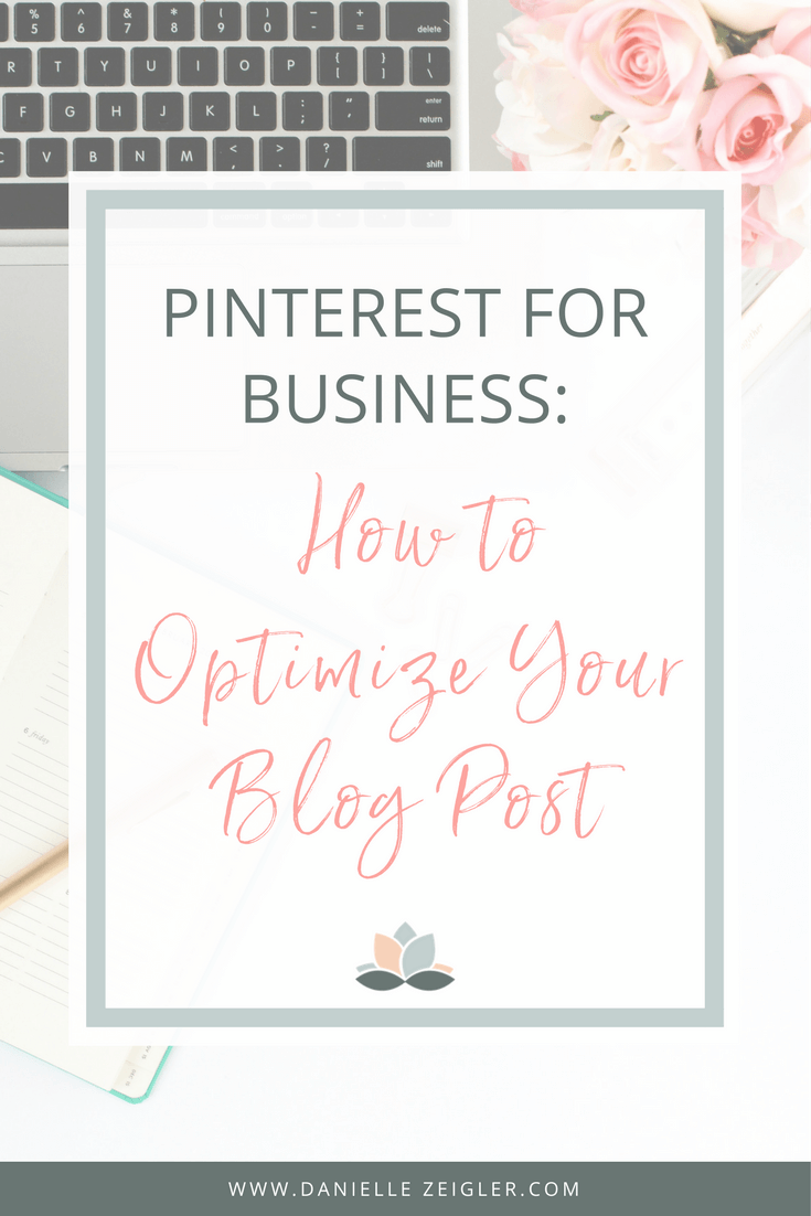 HOw to optimize your blog post for pinterest