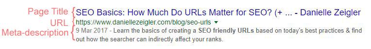 URL display