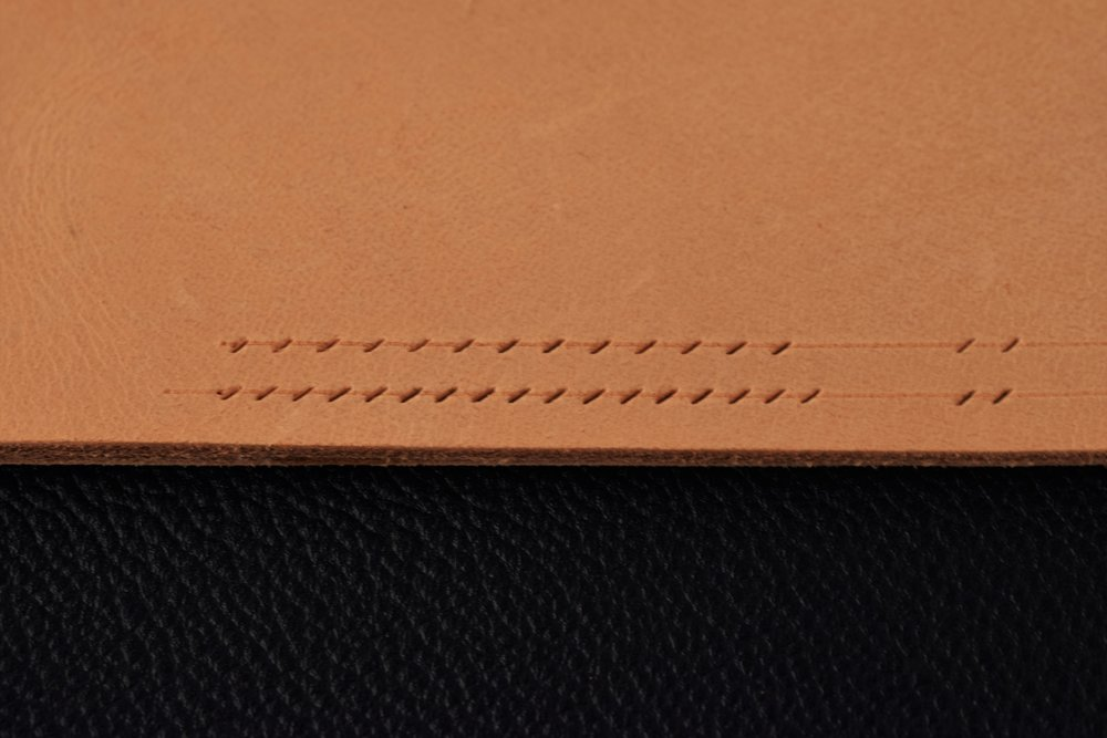 Holes marked with pricking iron. Top Line: 7 stitches per inch. Bottom Line: 9 stitches per inch.