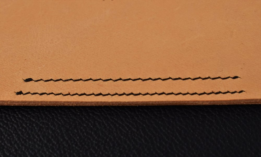 Finished Line of Stitching Reverse view.