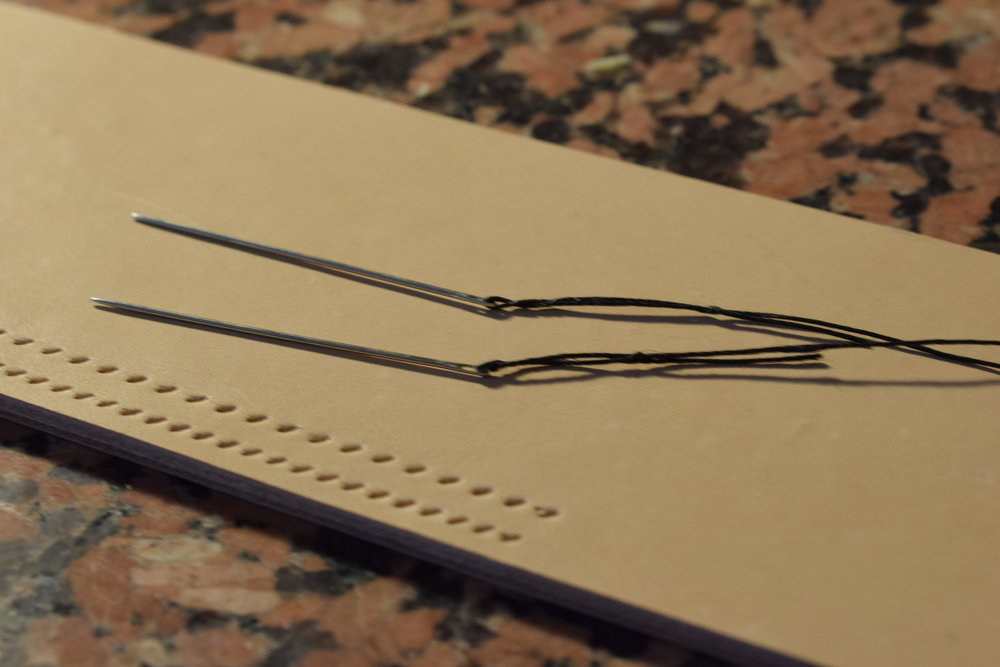 Thread locked in place on needles