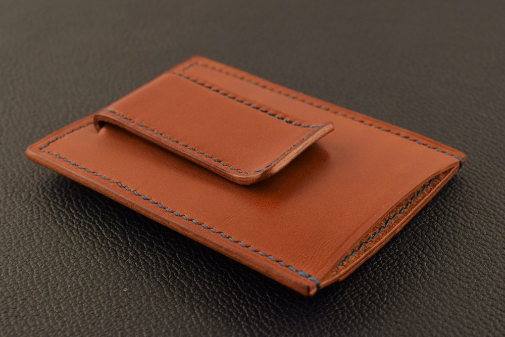 Money Clip Card Wallet- Starting at $135 -  A combination of a sleek profile, ample space for cards and notes and easily accessible cash, this unique wallet can be found where minimalism, functionality and good looks intersect...Learn More