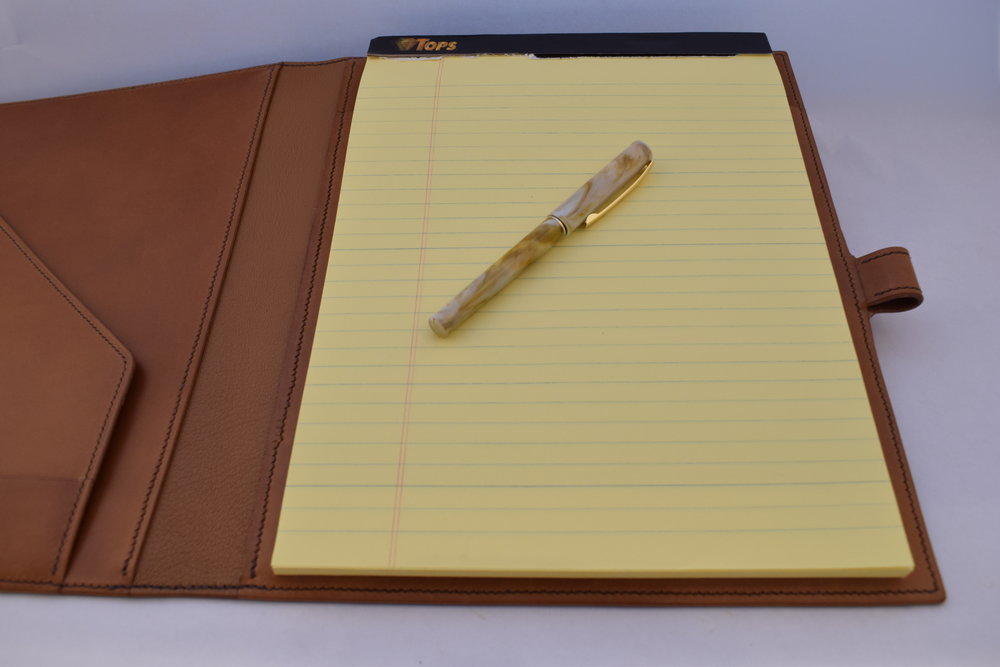 Full Size Legal Pad Portfolio- Starting at $330 - When first impressions matter most, a hand-crafted legal pad portfolio will send a clear message--You mean business...Learn More