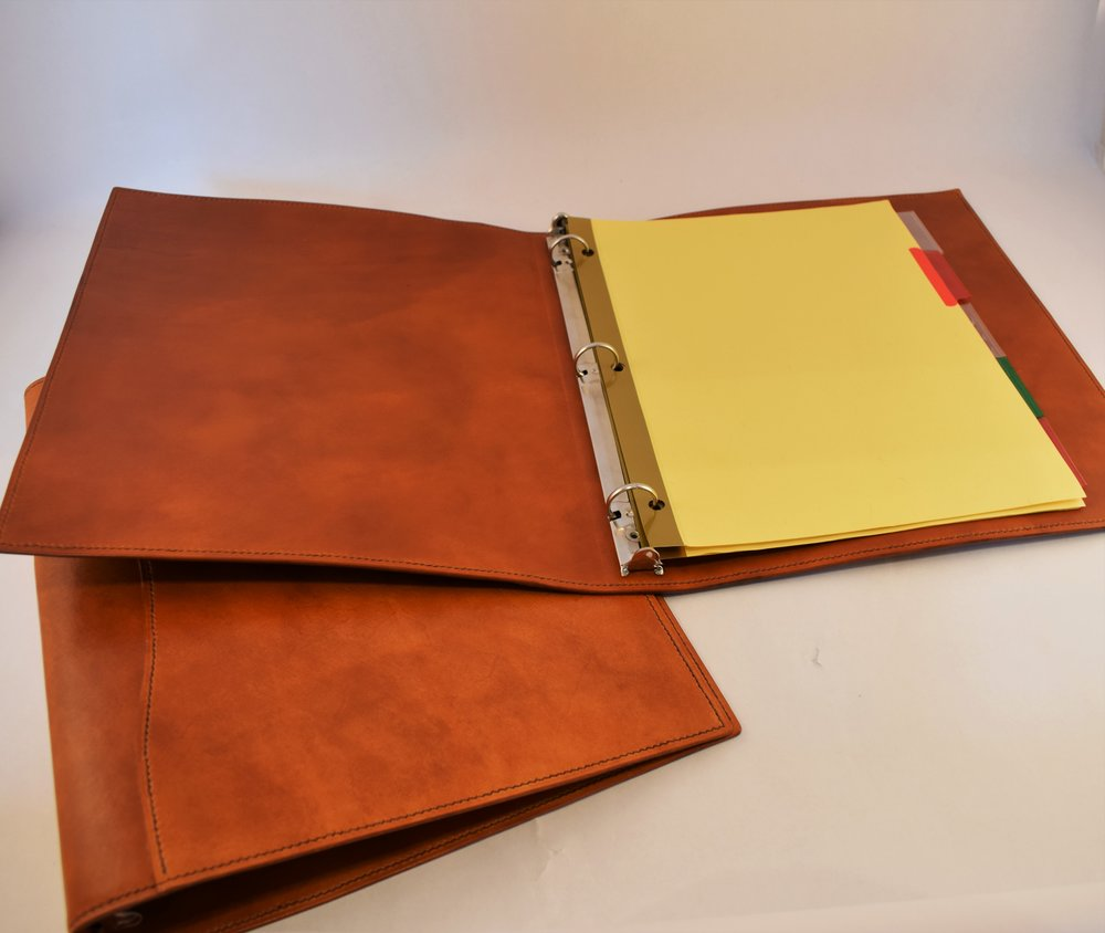 3- Ring Binder- Starting at $190 - Clean and professional, a hand-crafted three ring binder will not only protect all your notes and documents, but will also take your big project to the next level...Learn More