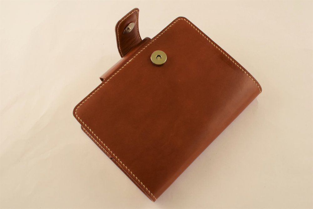 Chestnut Italian Buttero with Pen Loop and Magnetic Clasp ($190)