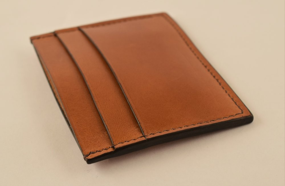 Whisky Italian Buttero, Dark Brown Thread and Edges, No Lining ($110)