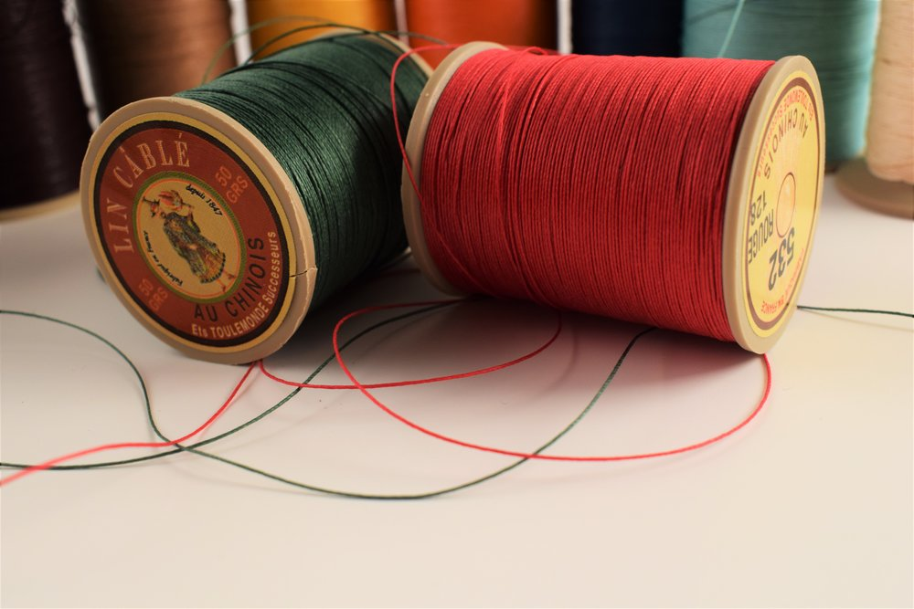 I currently have 11 different thread colors in stock