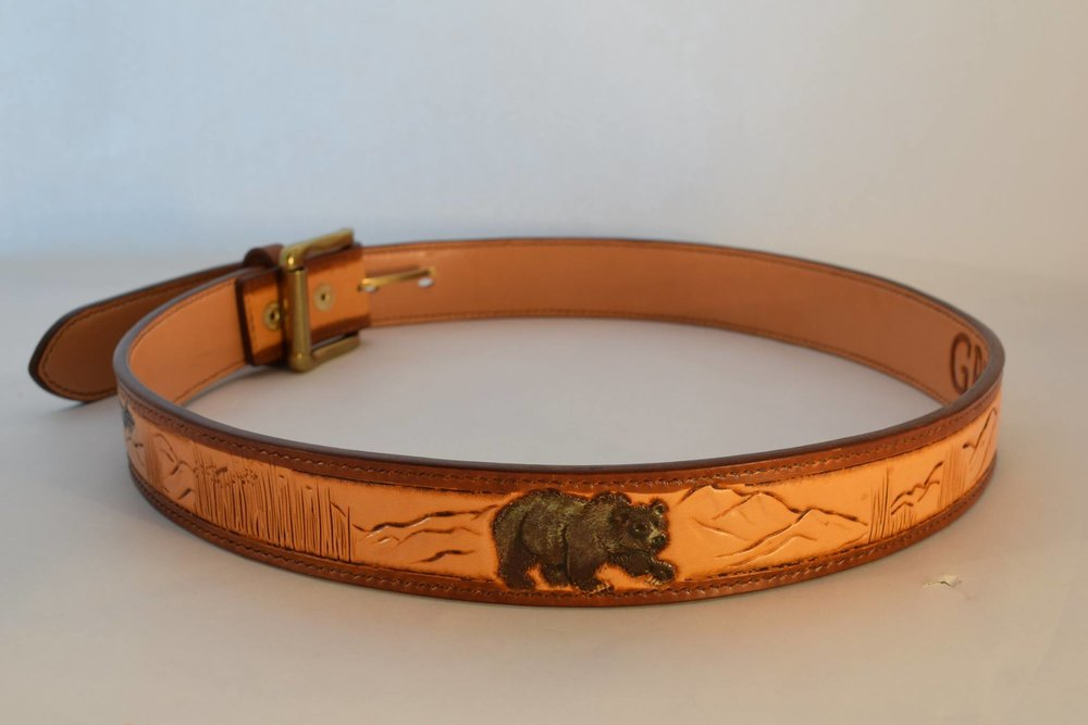 Custom Belt with Animals and Landscape