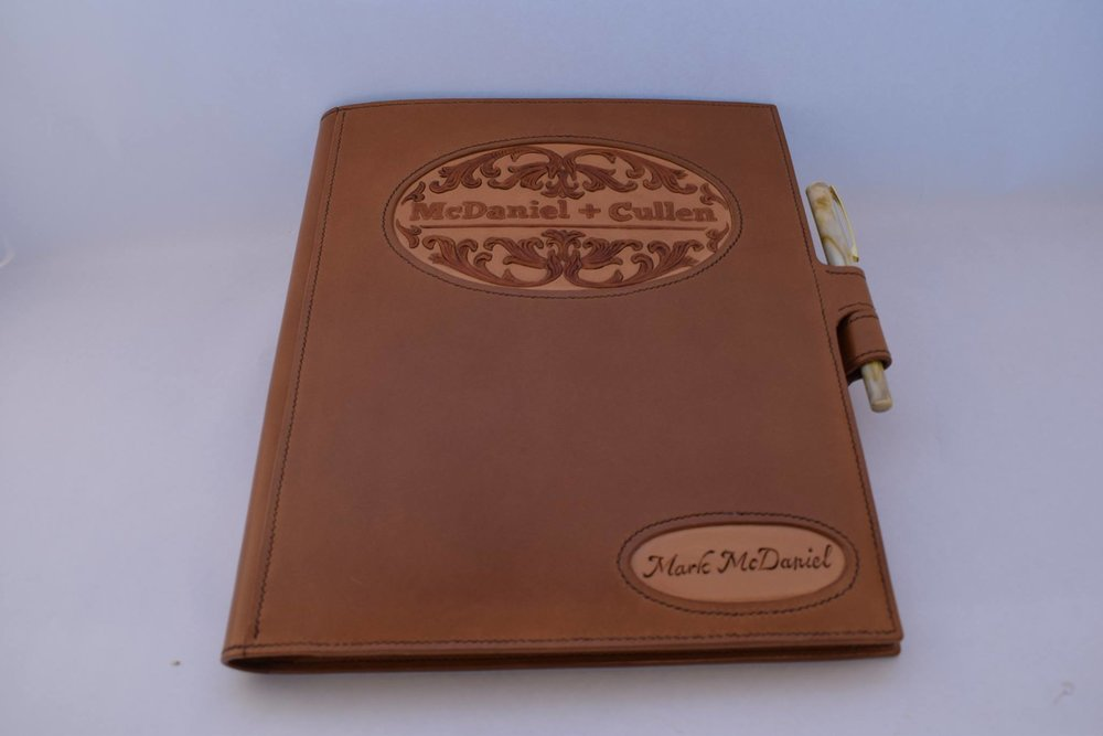 Custom Legal Padfolio with Multiple Inlays