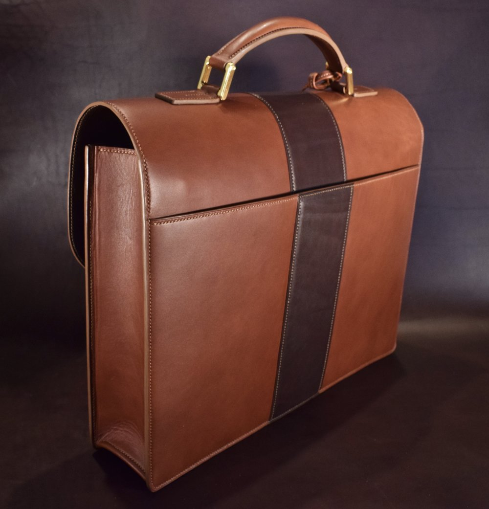 Custom Two-Tone Briefcase