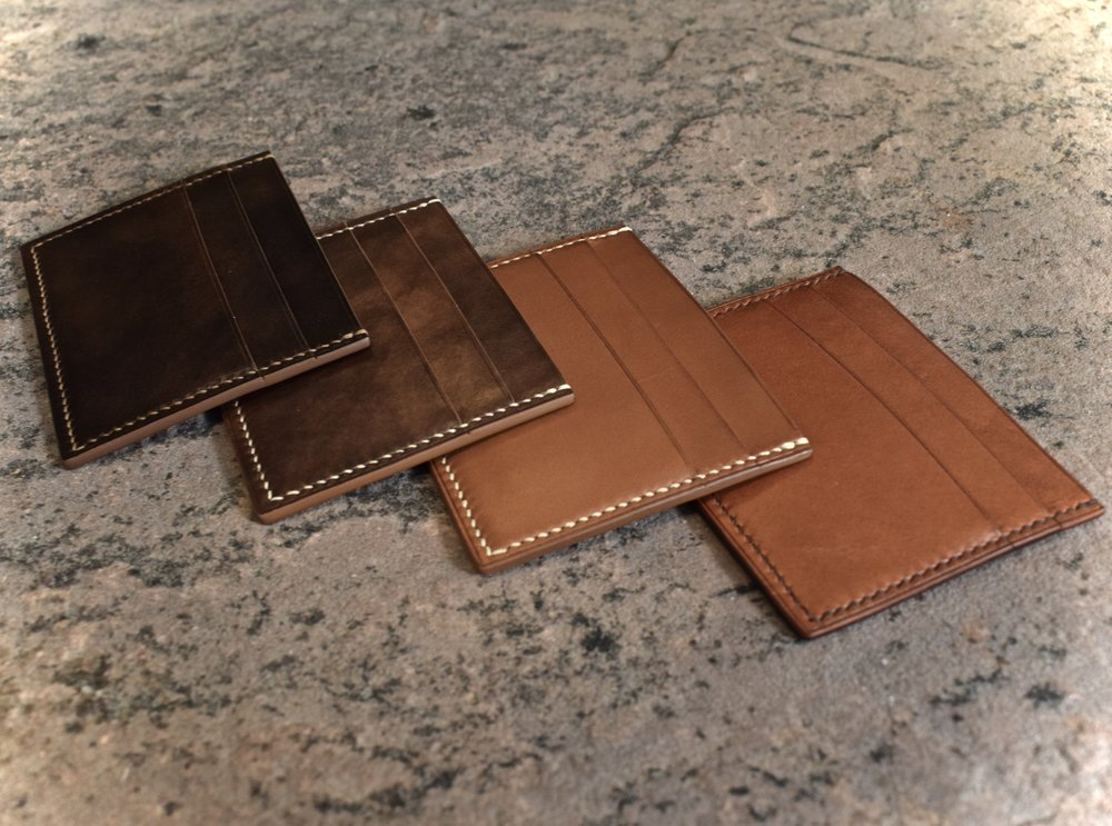 Two-Sided Card Wallet- Starting at $105 - Beauty in simplicity has no finer example.  This no frills card wallet removes excess while maintaining a classic style...Learn More