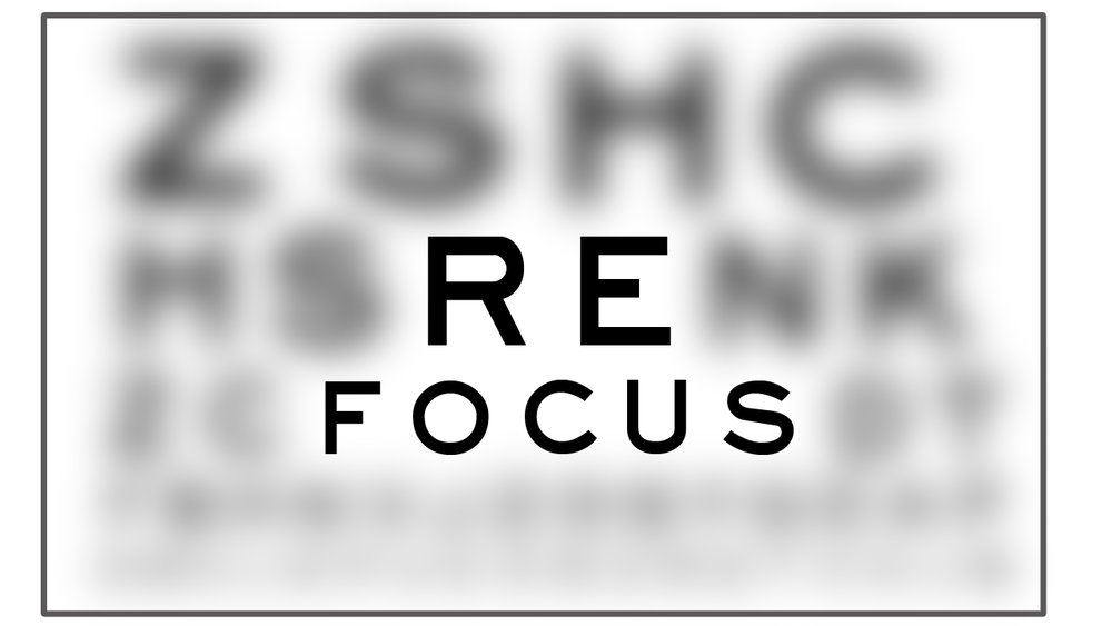 How to refocus yourself