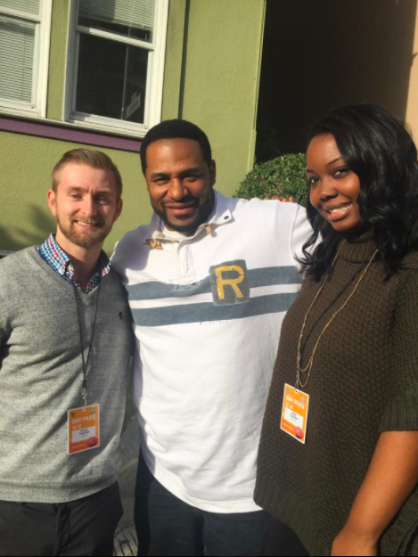 After a full day of media interviews with Jerome Bettis (retired Pittsburgh Steelers).