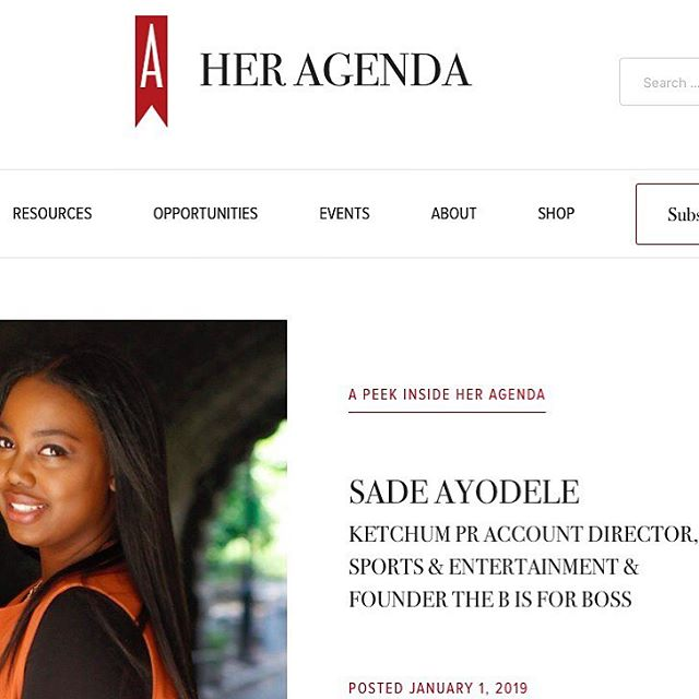 Happy New Year Boss Babes!  Our founder, @sadethesocialite was featured on @heragenda discussing how she helps boss ladies like you elevate their career!  She also teases some plans for #thebisforboss this year, so make sure you check it out! We have a lot in store for you in 2019!