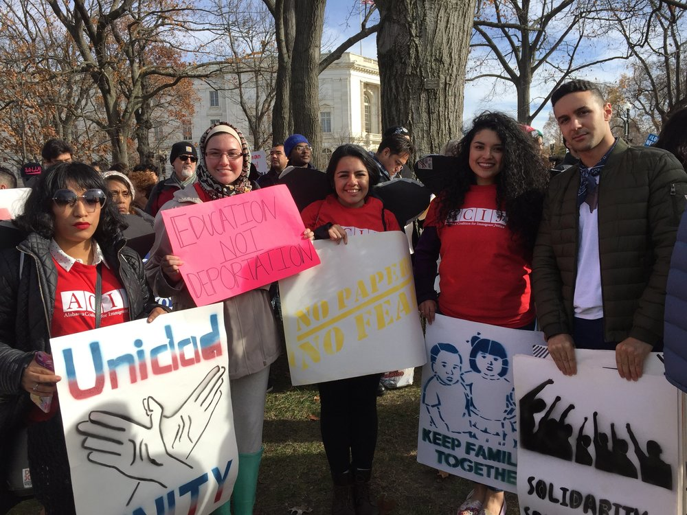 Ali Massoud, Government Affairs Coordinator and Megan Dubeansky, Government Affairs Intern at the Washingtion D.C. day of Action in support for DACA program.