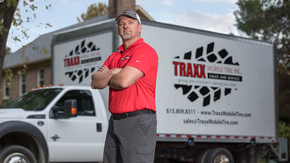 Larry Burch of Traxx Mobile Tire, Inc.