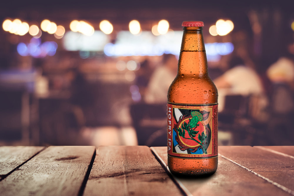 Advertising photographer in Nashville shot this image for Yazoo Brewery