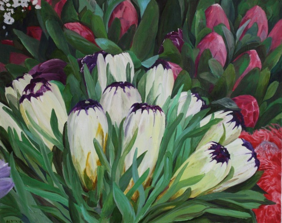 Purple Tips   24 x 30in,  oil on canvas
