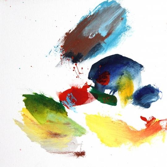 """Bolivian Rhapsody IV   12 x 12"""", acrylic on canvas"""