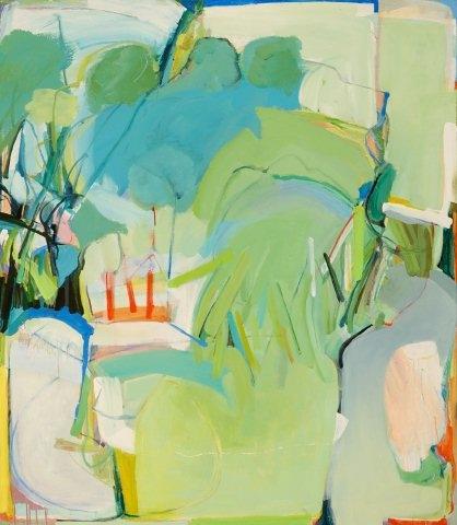 """Waterhole #4   52 x 62""""  acrylic"""