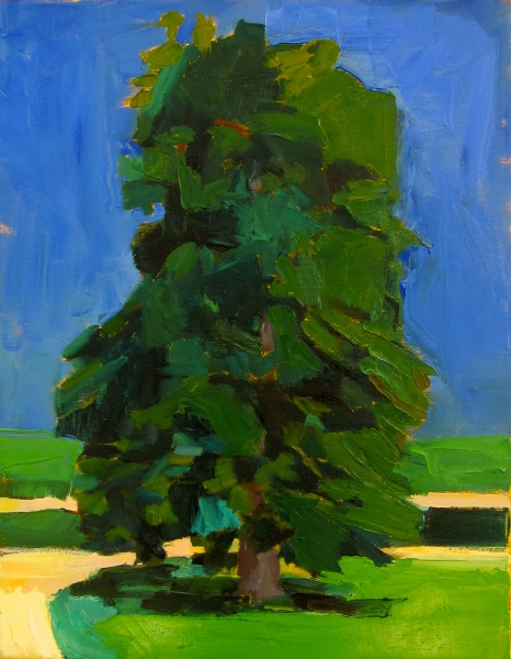 "Chestnut at High Noon   18 x 14"" oil on canvas"