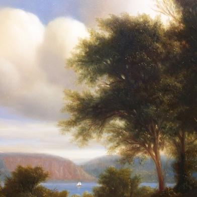 """Mist, Morning   8 x 8"""",  acrylic on canvas"""