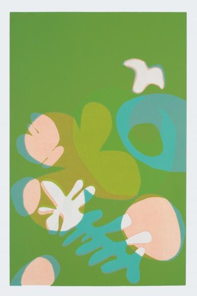 """Olivaceous   23 x 15""""monoprint"""