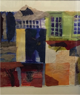 Windows and Doors   29 x 36, watercolor/collage on handmade paper.