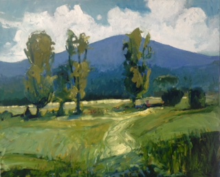 South Mountain from Weidner's farm   30 x 36, oil on canvas.