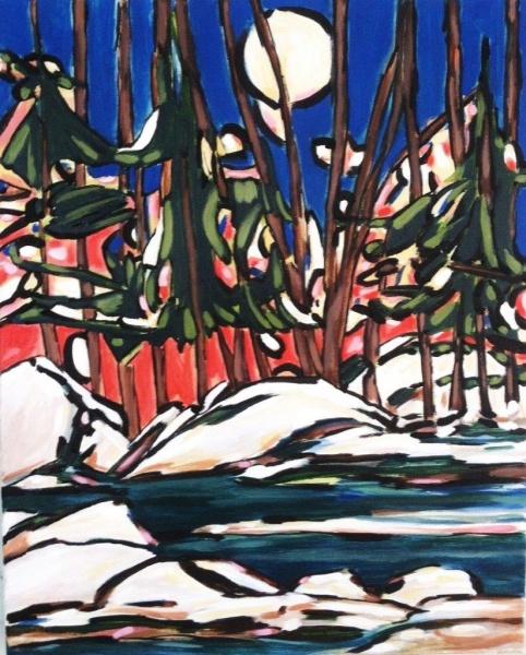 Sun Down   18 x 24, acrylic on canvas.