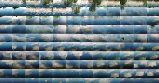 "Water Sky  24"" x 43""   photograph on sintra"