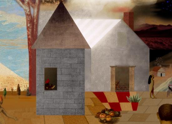 "Grey House  21.5"" x 15.5"""