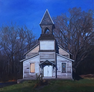 New Testament Bible Church   26 x 26,   oil on canvas,