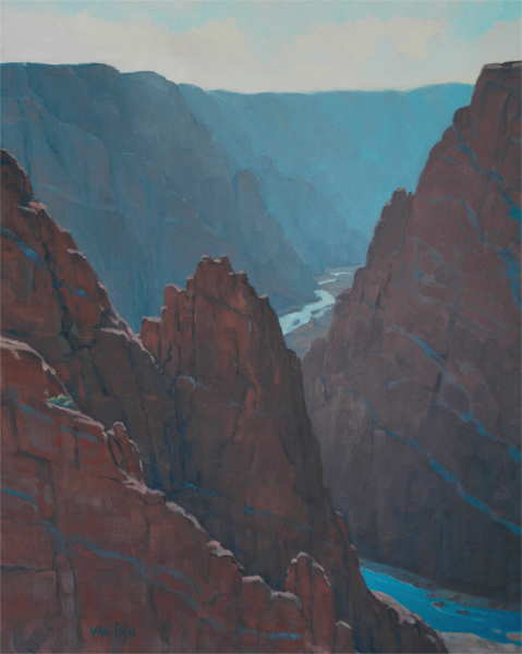 "Gunnison   20"" x 16"", oil on canvas"