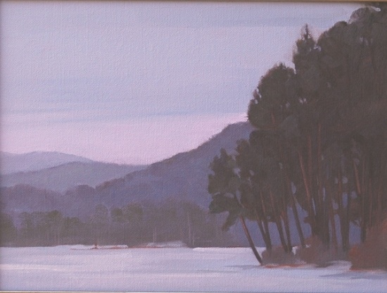 Cooper's Lake #2   9 x 12, oil on canvas.