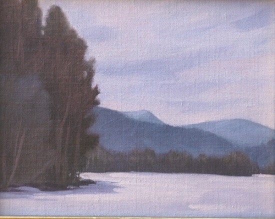 Cooper's Lake #1    8 x 10, oil on canvas, 2006