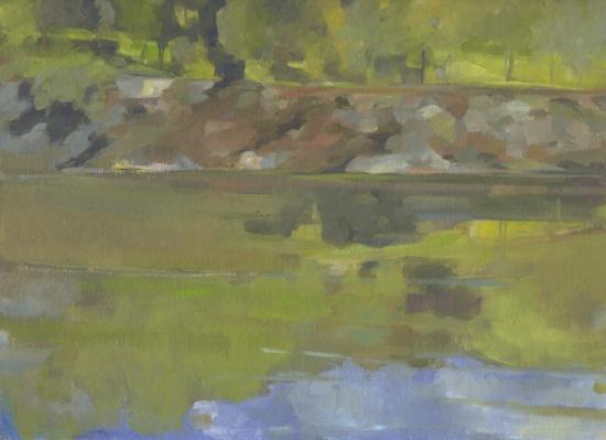Dale Emmart, Narrowsburgh River.jpg