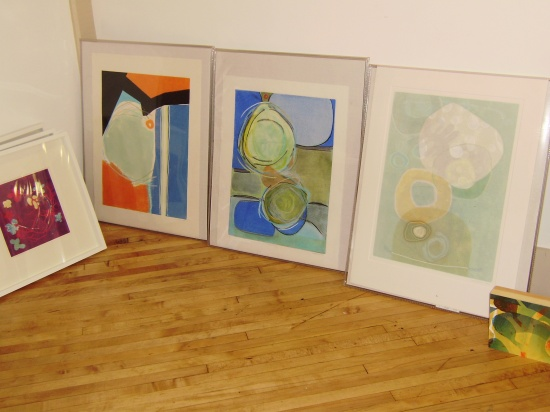 Mary Manning, Monotypes, in studio.jpg