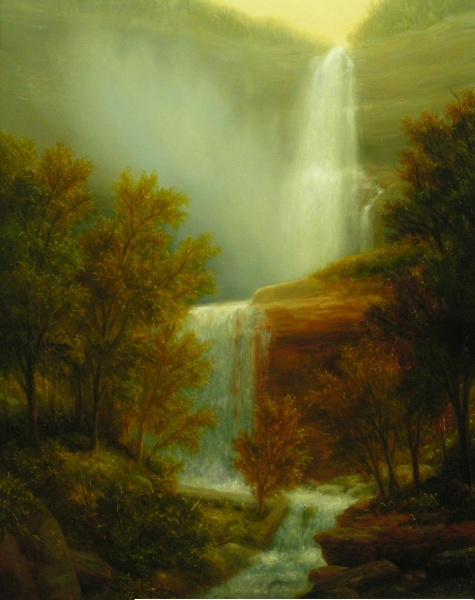 Thomas Locker,  Kaaterskills Falls, oil on canvas, 30 x 24.jpg