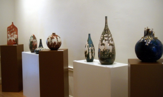 Paolo Staccioli, Italian Cultural Institute grouping of vases.jpg