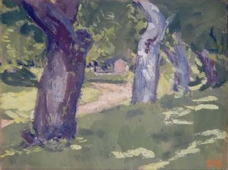 James Britton %22Orchard Road, North Manchester%22 8.5 x 11 oil on board, 1934.jpg